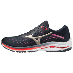Mizuno Wave Rider 24 Scarpe Donna, india ink/platinum gold/ignition red